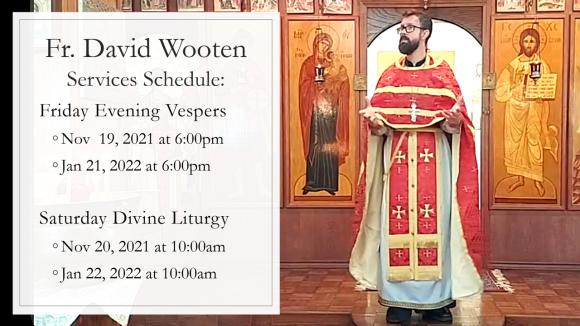 Fr. David Wooten Service Schedule